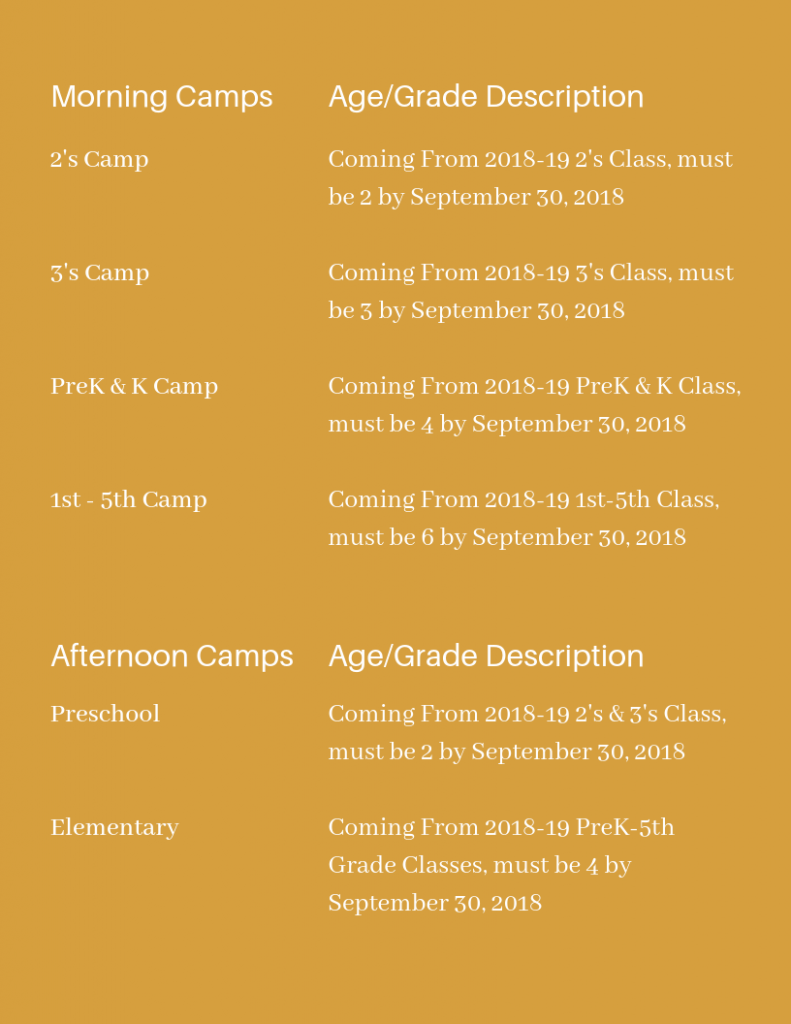 Morning Camps 2